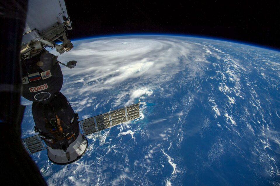 Huragan Irma widziany zMiędzynarodowej Stacji Kosmicznej