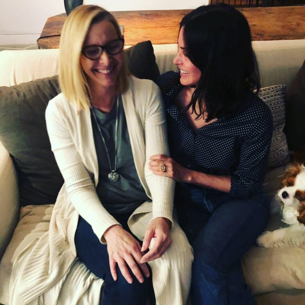 Lisa Kudrow i Courtney Cox
