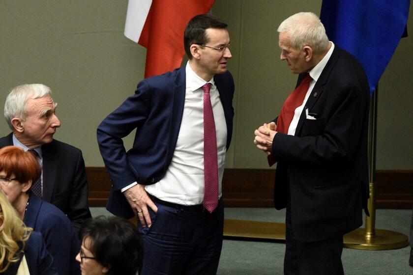 Mateusz Morawiecki z ojcem w Sejmie