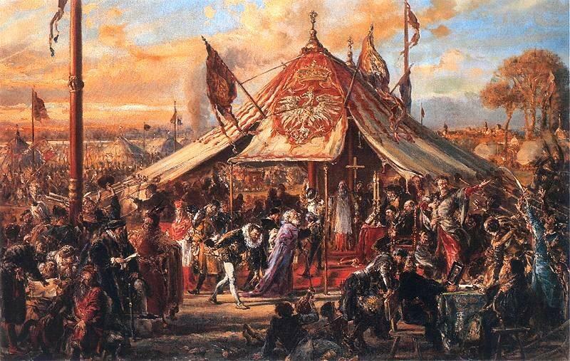 Obraz Jana Matejki: Potęga Rzeczypospolitej u zenitu. Złota Wolność. Elekcja R.P. 1573