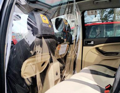 Tak wyglądają przesłony antywirusowe w taksówkach