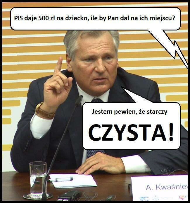 (fot.facebook.com/Memy o Kwaśniewskim)