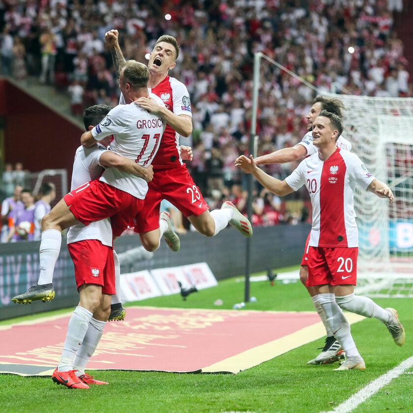 Polscy zawodnicy cieszą się ze zdobytego gola