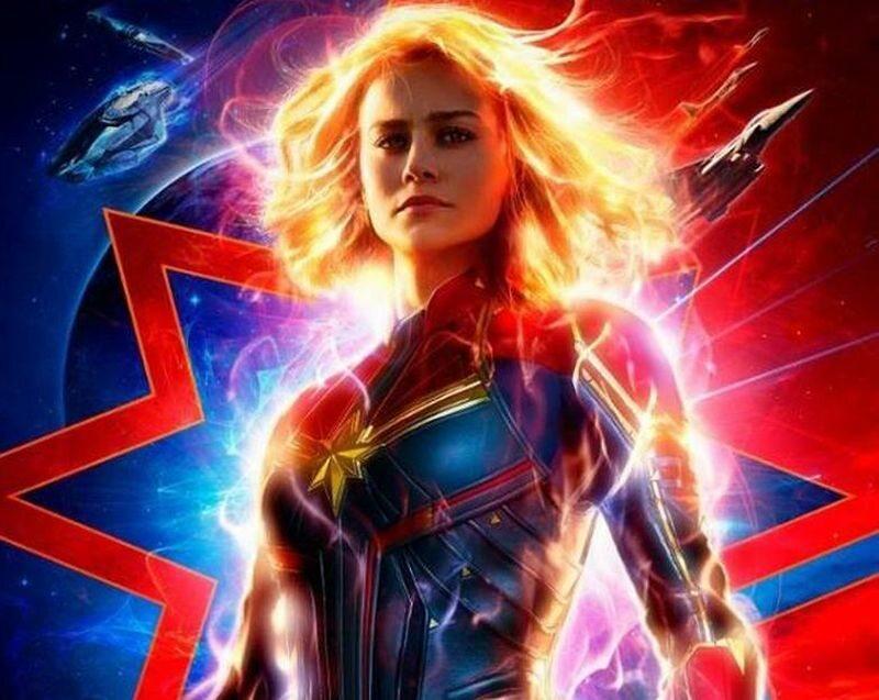 Fragment plakatu Captain Marvel