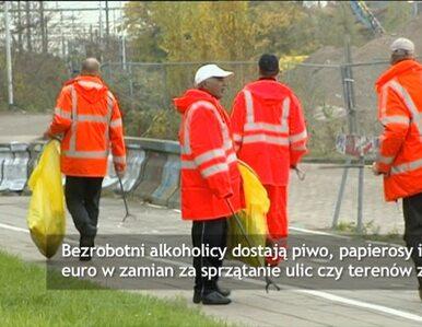 Alkoholicy sprzątają ulice. Zapłata? Piwo i papierosy