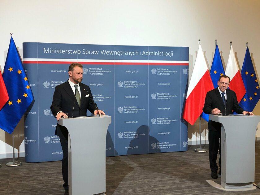 Łukasz Szumowski i Mariusz Kamiński