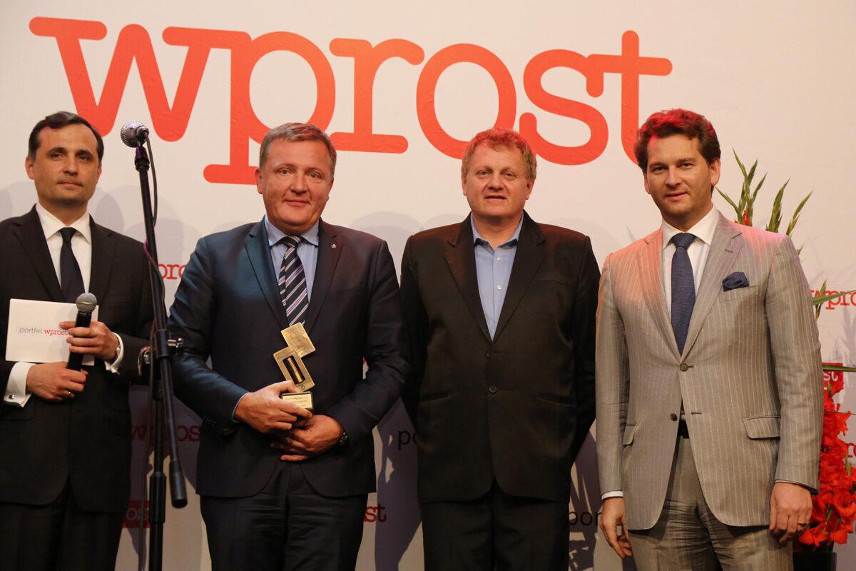 Roman Młodkowski, Wiceprezes Zarządu PKO - Piotr Alicki, Redaktor Naczelny Tomasz Wróblewski oraz Michał M. Lisiecki - Wydawca Wprost