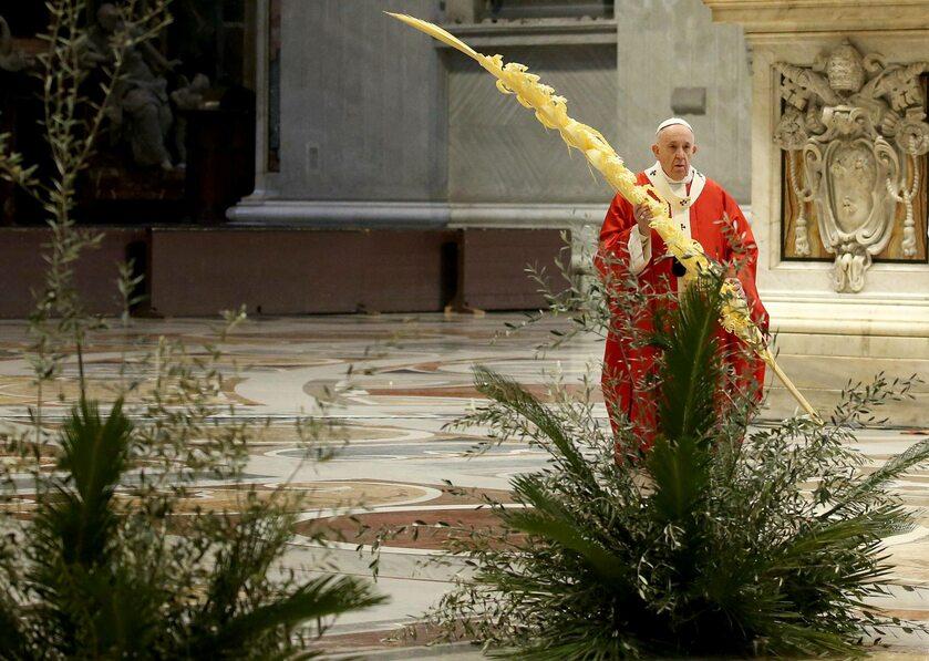 Papież Franciszek w niedzielę palmową