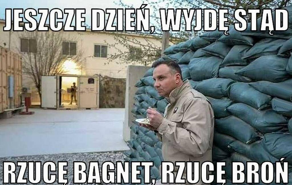 Memy po wizycie Andrzeja Dudy w Afganistanie