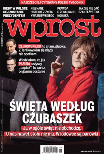 Okładka tygodnika Wprost nr 49/2014 (1657)