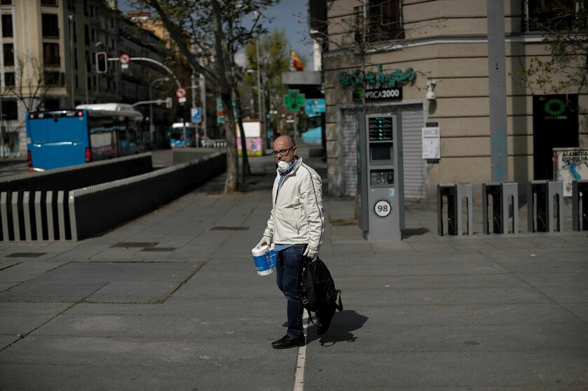 Mężczyzna na ulicy w Mardrycie