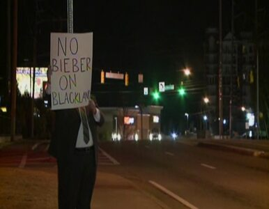 Protest przeciwko przeprowadzce Justina Biebera