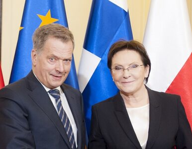 Ewa Kopacz spotkała się z prezydentem Finlandii