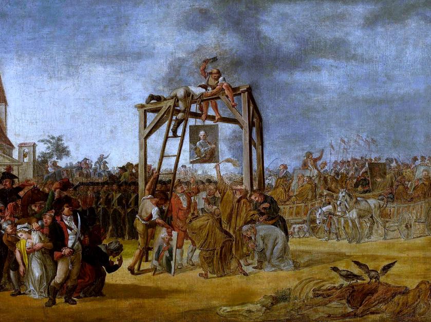 """Jan Piotr Norblin (?), """"Wieszanie zdrajców in effigie"""", 1794"""