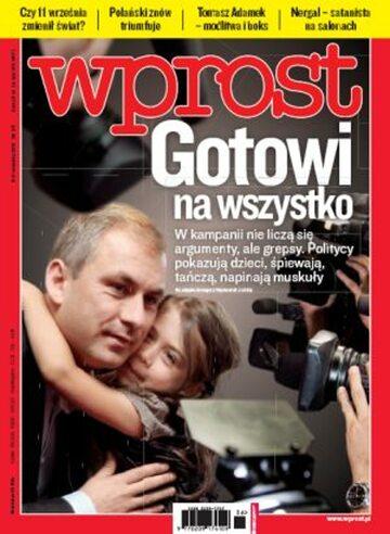 Okładka tygodnika Wprost nr 36/2011 (1491)