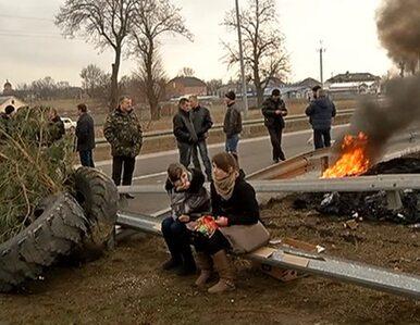 Kilkaset osób zablokowało drogę do przejścia granicznego w Korczowej