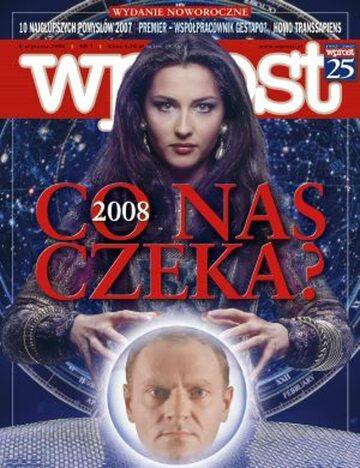 Okładka tygodnika Wprost nr 1/2008 (1306)