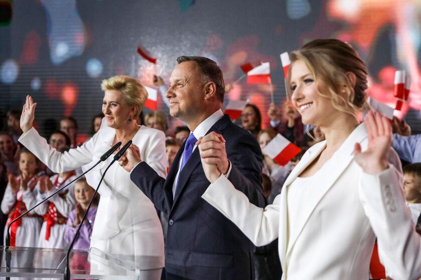 Agata Kornhauser-Duda, Andrzej Duda i Kinga Duda