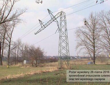 Linia energetyczna w Tychach odbudowana