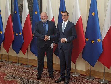 Morawiecki spotkał się z Timmermansem. Padła deklaracja
