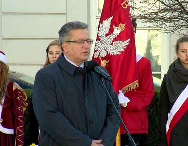 """Komorowski pod pomnikiem ks.Poniatowskiego. """"Warto dostrzegać w nim..."""