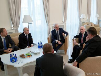 """""""Chcemy przypomnieć o pogwałceniu niepodległości Gruzji"""". Wizyta szefów..."""