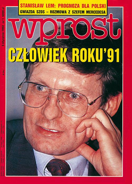 Okładka 1/1992 (476) WPROST Okładka 1/1992 (476) WPROST.