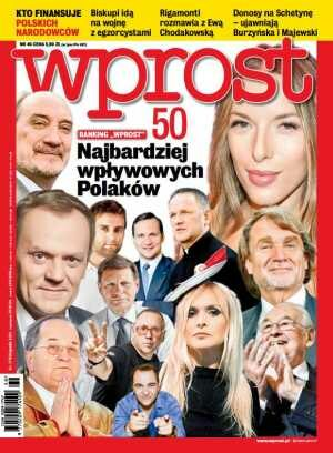 Okładka tygodnika Wprost nr 46/2013 (1603)