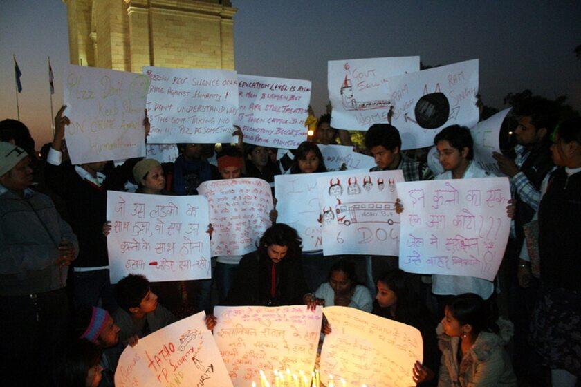 Protest w mieście Delhi