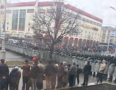 Setki zatrzymanych na demonstracji w Mińsku. Łukaszenko tłamsi opozycję