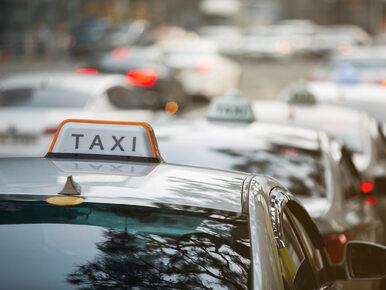 Protest taksówkarzy w Warszawie. Sprzeciwiają się nielegalnym przewoźnikom