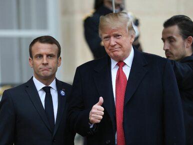 """Trump uderza w Macrona. """"W Paryżu zaczęli się uczyć niemieckiego, nim..."""