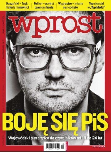 Okładka tygodnika Wprost nr 40/2011 (1495)