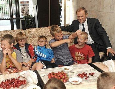 Tusk zrobił zawody dla dzieci w swojej Kancelarii