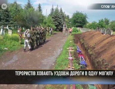 Pochowani w rowie przy cmentarnym murze. Pogrzeby separatystów w Słowiańsku