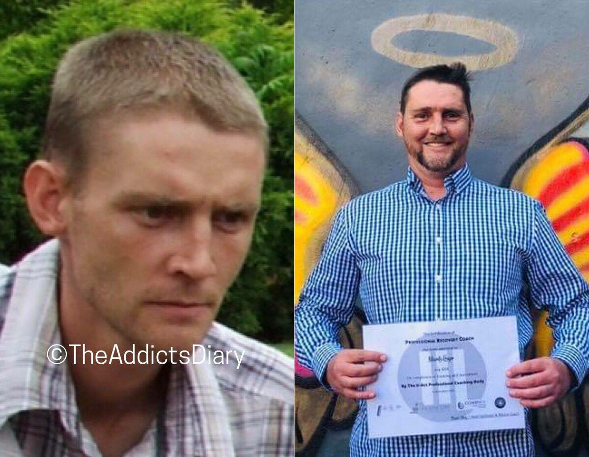 Zdjęcie przed i po wyjściu z nałogu