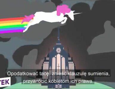 Jednorożec z Łodzi bohaterem spotu wyborczego. To nie pierwsza animacja...