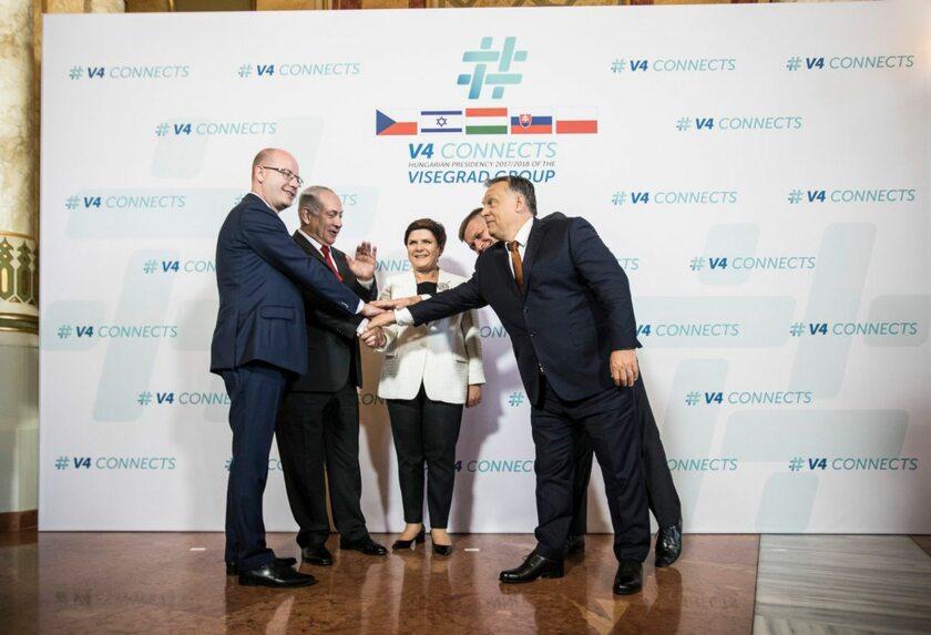 Spotkanie przedstawicieli Grupy Wyszehradzkiej z premierem Izraela