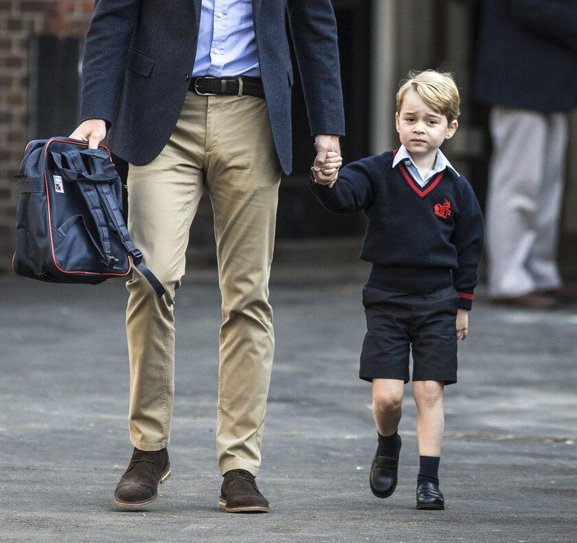 Pierwszy dzień księcia George'a w szkole