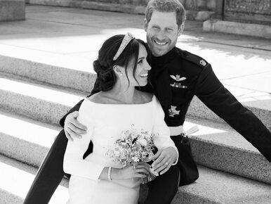 Oficjalne portrety ślubne księcia Harry'ego i Meghan Markle. Fotograf...