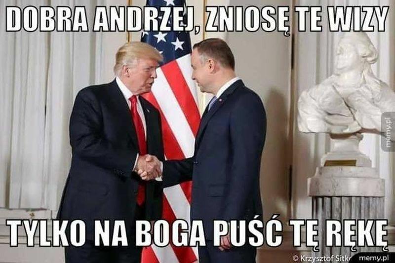 Uścisk dłoni prezydenta