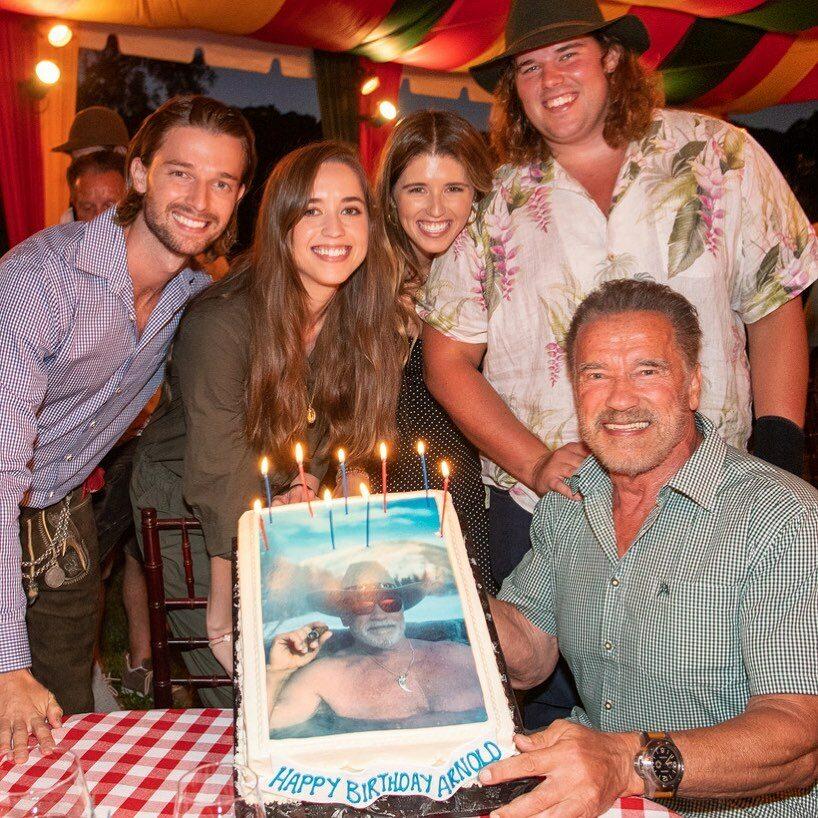 Arnold Schwarzenegger z rodziną