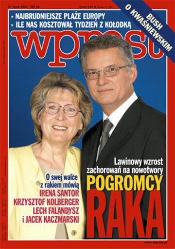Okładka tygodnika Wprost nr 29/2002 (1025)