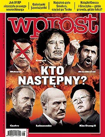Okładka tygodnika Wprost nr 9/2011 (1464)