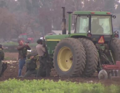 Nożownik zaatakował ludzi i zabarykadował się w... traktorze
